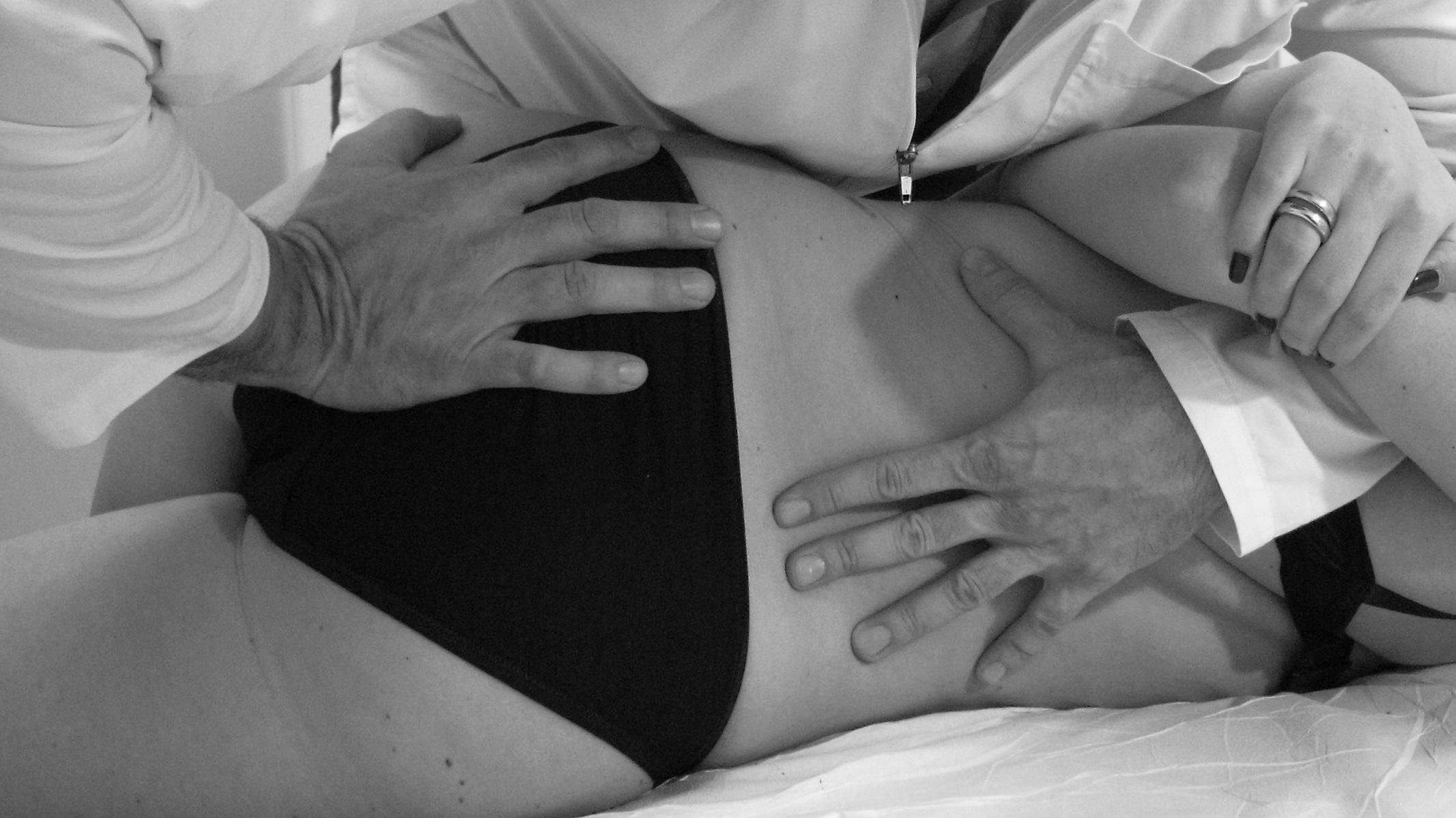 In reparto cervicale di una spina dorsale a un topo